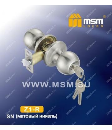Ручка MSM защелка (шариковая) Z1 Матовый никель (SN) Входная (R)