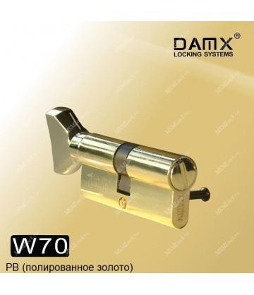 Сантехнический цилиндр DAMX W70 Полированная латунь (PB)
