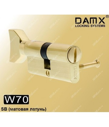 Сантехнический цилиндр DAMX W70 Матовая латунь (SB)
