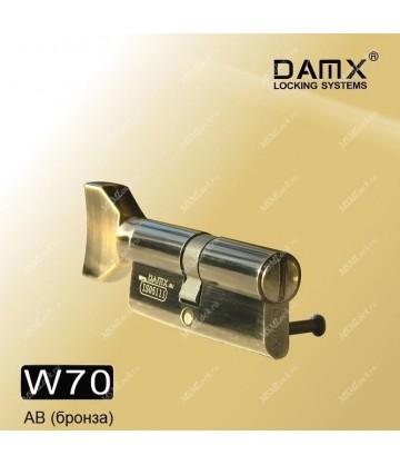 Сантехнический цилиндр DAMX W70 Бронза (AB)