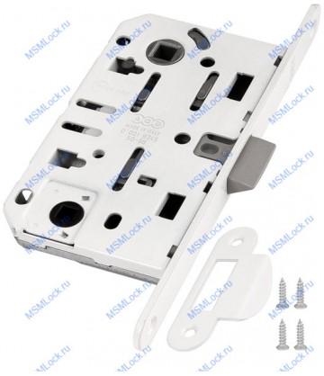 B01102.50.91.567 AGB Дверной замок межкомнатный WC белый MEDIANA EV. С отв пл B01000.13