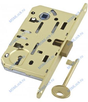 B01101.50.03.579 Дверной замок межкомнатный AGB под ключ латунь MEDIANA EV. С планкой B01000.40.03)