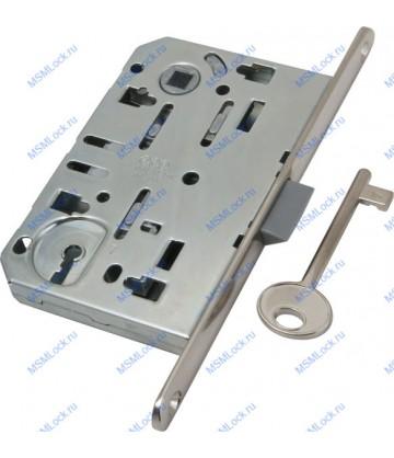 B01101.50.06.579 Дверной замок врезной AGB под ключ никель MEDIANA EV. С планкой B01000.40.06)