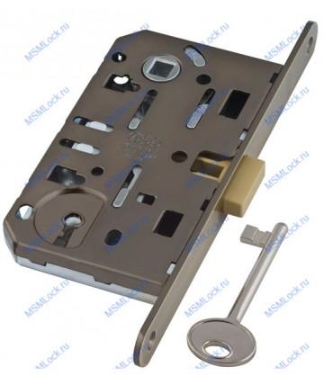 B04101.50.12 (=B06101) AGB Дверной замок межкомнатный под ключ антич бронза без отв пл MEDIANA POLARIS