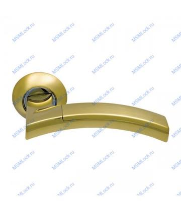 Дверная ручка Archie Sillur 132 S.GOLD-P.GOLD матовое золото-золото