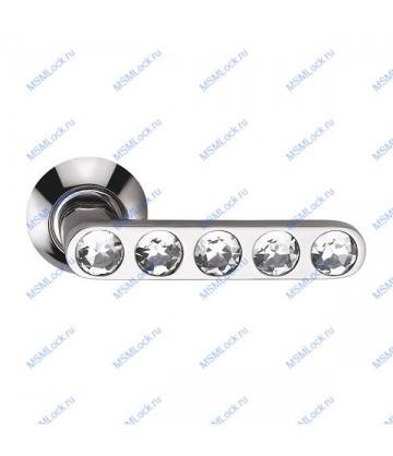 Дверные ручки Archie Sillur 200 P.CHROME-CRYSTAL хром-кристал