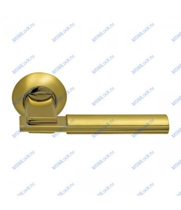 Дверная ручка Archie Sillur 94A S.GOLD-P.GOLD матовое золото-золото