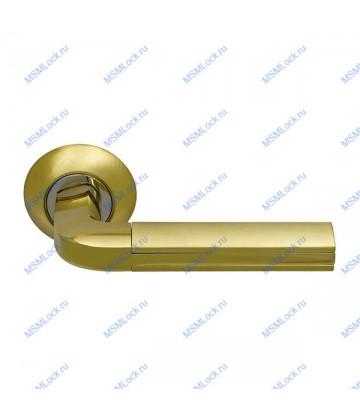 Дверная ручка Archie Sillur 96 S.GOLD-P.GOLD матовое золото-золото